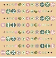 Beautiful pastel circles background vector image