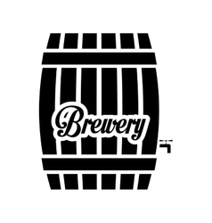 black barrel icon image design vector image
