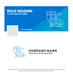 blue business logo template for car hand vector image