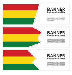 Bolivia flag banners collection independence day vector