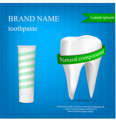 Brand toothpaste concept background realistic vector