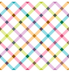 bright seamless pattern - colorful design grid vector image