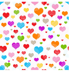 bright seamless valentine pattern of multicolored vector image