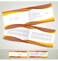 brochure design template booklet brown yellow vector image