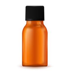 brown medical bottle vector image