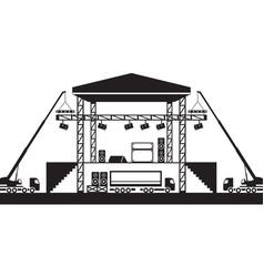Building of musical stage vector
