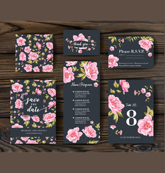 bundle save date and rsvp invitation card vector image