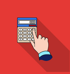 Calculation icon in flat style isolated on white vector