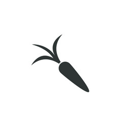 carrot icon simple gardening element symbol vector image
