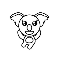 cartoon koala animal outline vector image