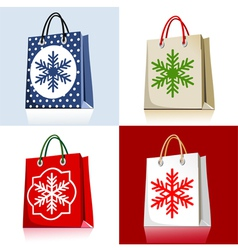 Christmas bags vector