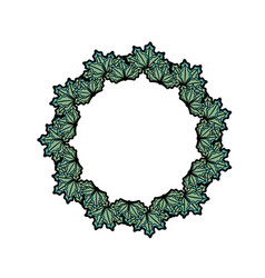 Christmas wreath garland decoration design vector