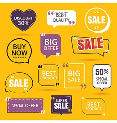 collection premium promo sale stickers vector image
