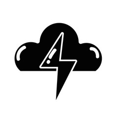 Contour cloud and thunder storm weather vector