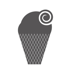 Delicious sweet ice cream vector