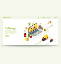 delivery web page template vector image