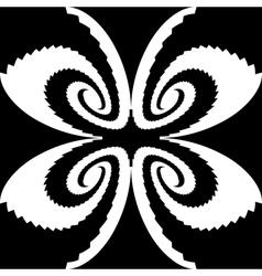 Design monochrome decorative butterfly silhouette vector