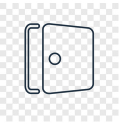 door concept linear icon isolated on transparent vector image