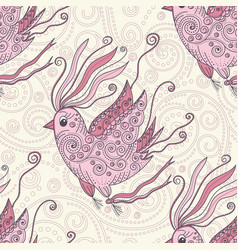 Dreamer bird seamless repeat pattern vector