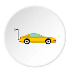 electro car icon circle vector image