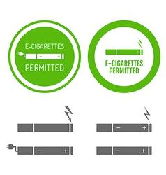 Electronic cigarettes permitted sign vector image