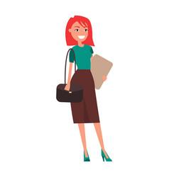 Entrepreneur elegant business woman pretty girl vector