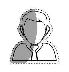 executive businessman profile vector image