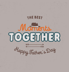 fathers day badge typography sign - the best vector image
