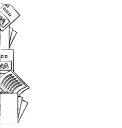 figure school tools education background design vector image