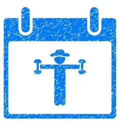 Fitness Calendar Day Grainy Texture Icon vector