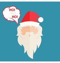 Flat design of Santa Claus vector image