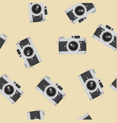 flat design vintage camera pattern vector image