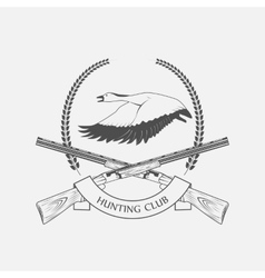 geese hunting icon vector image