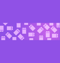 gift boxes on pink violet background horizontal vector image