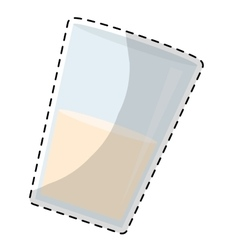 Glass of milk icon image vector