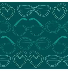 Glasses seamless pattern retro sunglasses vector image