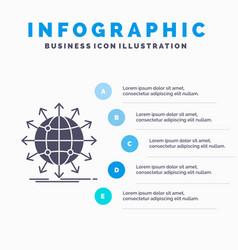 Globe network arrow news worldwide infographics vector