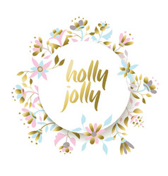 Gold holiday flower for Christmas vector image
