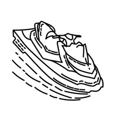 good jet ski icon doodle hand drawn or outline vector image