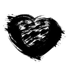grunge black hearthand holding vector image