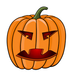 Halloween pumpkin hand drawn colored sketch vector