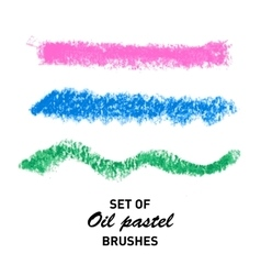 Hand drawn oil pastel brush strokes vector image