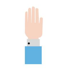 Hand open symbol vector