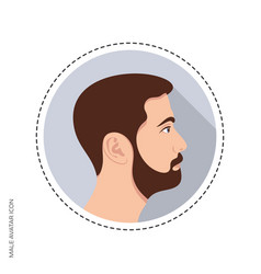 handsome male avatar circle web icon vector image