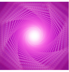 Infinite tunnel shining flares on violet vector