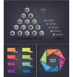 infographics set pyramid infographic vector image