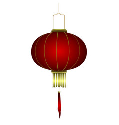 isolated chinese lantern vector image