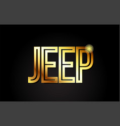 Jeep word text typography gold golden design logo vector