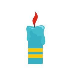 Judaism candle icon flat style vector