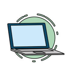 laptop computer tech vector image